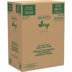 Dart 32-oz Big Drink Foam Cups - 1 quart - 500 / Carton - Foam - Beverage, Hot Drink, Cold Drink
