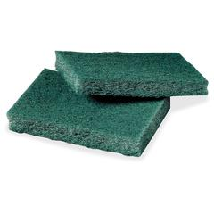 "Scotch-Brite -Brite General Purpose Scrub Pads - 40 / Box - 80/Carton - 3"" Width x 4.50"" Depth - Synthetic Fiber - Green"