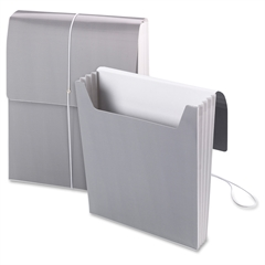 "Smead Organized Up® Vertical Wallet - Letter - 8 1/2"" x 11"" Sheet Size - 3 1/2"" Expansion - 1 Pocket(s) - Cool Gray - 5 / Box"