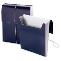 "Smead Organized Up® Vertical Wallet - Letter - 8 1/2"" x 11"" Sheet Size - 3 1/2"" Expansion - 1 Pocket(s) - Monaco Blue - 5 / Box"
