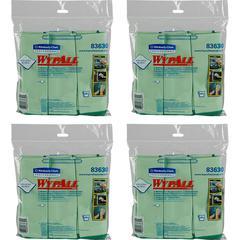"Wypall Microfiber Cloths - Cloth - 15.75"" Width x 15.75"" Length - 24 / Carton - Green"