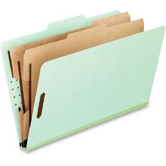 "Pendaflex 2-divider Classification Folders - Legal - 8 1/2"" x 14"" Sheet Size - 400 Sheet Capacity - 2"" Expansion - 2"" Fastener Capacity for Folder, 1"" Fastener Capacity for Divider - 2/5 Tab Cut - 2 D"