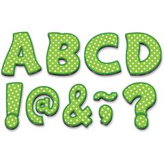 "Lime/Dots 3"" Magnet Letters - Learning Theme/Subject - 67 Letter - Magnetic - Durable, Damage Resistant - 0.10"" Height x 3"" Width x 3"" Depth - Multicolor - 67 / Pack"