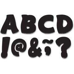 "3"" Funtastic Magnet Letters - Learning Theme/Subject - 67 Letter - Magnetic - Durable, Damage Resistant - 0.10"" Height x 3"" Width x 3"" Depth - Black - 67 / Pack"