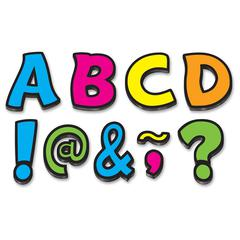 """Teacher Created Resources Neon Fun 3"""" Magnetic Letters - Learning Theme/Subject - 67 Letter - Magnetic - Durable, Damage Resistant - 0.10"""" Height x 3"""" Width x 3"""" Depth - Multicolor - 67 / Pack"""