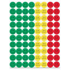 "Hygloss 1/2"" Behavior Stickers - 1200 (Face) Shape - Assorted - 1200 / Pack"