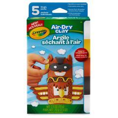 Crayola Air-dry Clay - 5 / Box - White, Terra Cotta, Sunglow, Charcoal