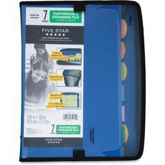 "Five Star 7 Pocket Zipper Expanding File - Letter - 8 1/2"" x 11"" Sheet Size - 7 Pocket(s) - Poly - Assorted - 1 Each"