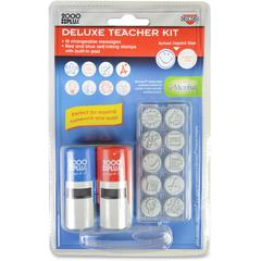 Consolidated Stamp Message Stamp Deluxe Teacher Kit - Message Stamp - Red, Blue - 1 Each