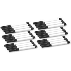 Dry Erase Pen - Fine Point Type - Black - 24 / Pack