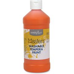 Handy Art 16 oz. L.Masters Washable Tempera Paint - 16 fl oz - 1 Each - Orange