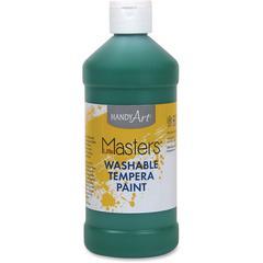 Handy Art 16 oz. L.Masters Washable Tempera Paint - 16 fl oz - 1 Each - Green