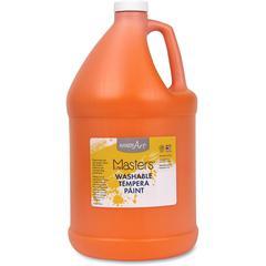 Handy Art L.Masters Washable Tempera Paint Gallon - 1 gal - 1 Each - Orange