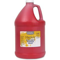 Handy Art L.Masters Washable Tempera Paint Gallon - 1 gal - 1 Each - Red