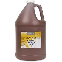 Handy Art L.Masters Washable Tempera Paint Gallon - 1 gal - 1 Each - Brown