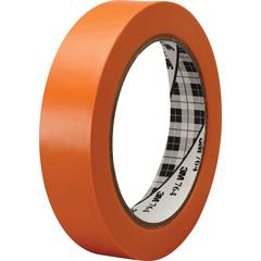 3M™ General Purpose Vinyl Tape 764 Orange - 1 in x 36 yd 5.0 mil - Polyvinyl Chloride (PVC) Backing - Rubber adhesive -Flexible, Removable, Residue-free - 1 Roll - Orange