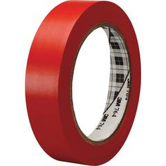 3M™ General Purpose Vinyl Tape 764 Red - 1 in x 36 yd 5.0 mil - Polyvinyl Chloride (PVC) Backing - Rubber adhesive -Flexible, Removable, Residue-free - 1 Roll - Red