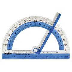 Helix See-through Protractor - Transparent - Assorted