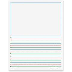 "Teacher Created Resources K-1 5/8"" Space Writing Paper - Printed - Letter 8.50"" x 11"" - White Paper - 360Sheet"