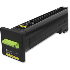 Lexmark Unison Original Toner Cartridge - Laser - Standard Yield - 8000 Pages - Yellow - 1 Each