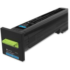 Lexmark Original Toner Cartridge - Cyan - Laser - Extra High Yield - 1 Each