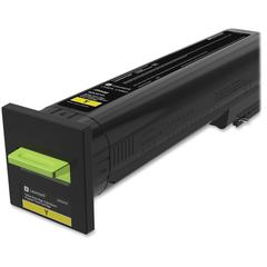 Lexmark Original Toner Cartridge - Yellow - Laser - Extra High Yield - 1 Each