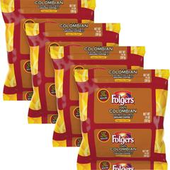 Folgers Colombian Ground Coffee Filter Packs Ground - Regular - Colombian - Bold - 1.4 oz - 40 / Carton