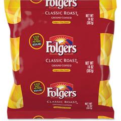 Folgers Classic Roast Ground Coffee Filter Packs Ground - Regular - Classic - 1.4 oz - 40 / Carton
