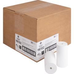 "Business Source Receipt Paper - 4 19/64"" x 127 ft - 50 / Carton - White"