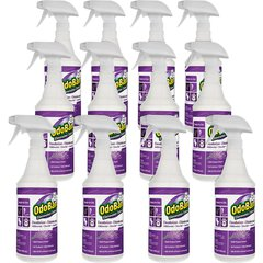 OdoBan Lavender Deodorizer Disinfectant Spray - Ready-To-Use Spray - 0.25 gal (32 fl oz) - Lavender Scent - 12 / Carton - Purple