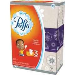 Puffs Basic Facial Tissues - 2 Ply - Multi - Durable, Soft - For Face, Skin, Multipurpose - 180 Sheets Per Box - 24 / Carton