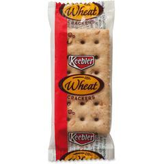 Keebler&reg Wheat Crackers - Wheat - Packet - 2 - 300 / Carton