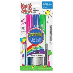 The Pencil Grip Pencil Grip Kwik Stix Tempera Paint Create Pack - 6 / Each - Light Blue, Green, Blue, White, Silver, Pink