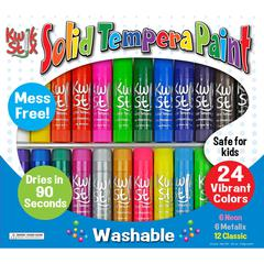 The Pencil Grip Pencil Grip Tempera Paint 24-color Mess Free Set - 24 / Set - Assorted, Neon, Metallic
