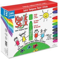 The Pencil Grip Pencil Grip Kwik Stix 144-pc Tempera Paint Sticks - 144 / Box - Assorted