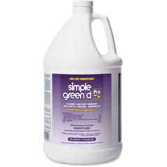 Simple Green D Pro 5 One-Step Disinfectant - Concentrate Liquid - 1 gal (128 fl oz) - 4 / Carton - Clear