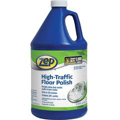 Zep Commercial High-Traffic Floor Finish - Liquid - 1 gal (128 fl oz) - 4 / Carton - Clear, Green