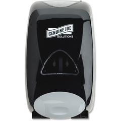 Genuine Joe Solutions 1250 ml Soap Dispenser - Manual - 1.32 quart Capacity - Black - 1Each