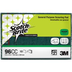 "Scotch-Brite -Brite General Purpose Scouring Pads - 6"" Width x 9"" Depth - 60/Carton - Green"