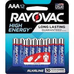 Rayovac Alkaline AAA Batteries - AAA - Alkaline - 144 / Carton
