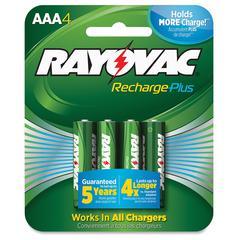 Rayovac Recharge Plus AAA Batteries - AAA - Nickel Metal Hydride (NiMH) - 24 / Carton