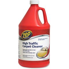 Zep Commercial High Traffic Carpet Cleaner - Liquid - 1 gal (128 fl oz) - 4 / Carton - Red