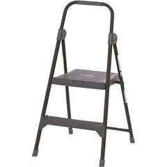 "Louisville 2' Steel Domestic Step Stool - 2 Step - 225 lb Load Capacity24"" - Gray"