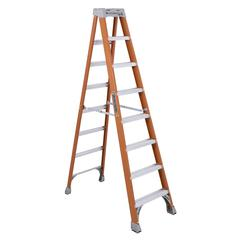 "Louisville 8' Fiberglass Step Ladder - 7 Step - 300 lb Load Capacity96"" - Orange"