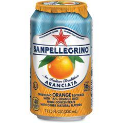 SanPellegrino Italian Sparkling Orange Beverage - Aranciata Flavor - 11.15 fl oz (330 mL) - 12 / Carton