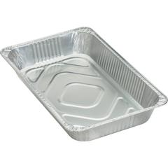 Genuine Joe Full-size Disposable Aluminum Pan - 8.8 quart Pan - Aluminum - Cooking, Serving - Disposable - Silver - 50 Piece(s) / Carton