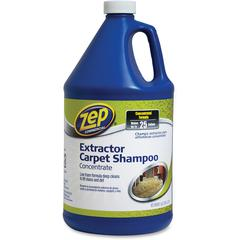 Zep Commercial Extractor Carpet Shampoo Concentrate - Concentrate - 1 gal (128 fl oz) - 4 / Carton - Blue