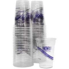 Eco-Products BlueStripe Cold Cups - 50 - 16 fl oz - 500 / Carton - Clear - Cold Drink - Recycled