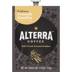 Mars Drinks Alterra French Vanilla Flavored Coffee - Compatible with Flavia - Regular - French Vanilla - Medium - 100 / Carton