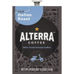Mars Drinks Alterra Italian Roast Coffee - Compatible with Flavia - Regular - Italian Roast - Dark - 100 / Carton